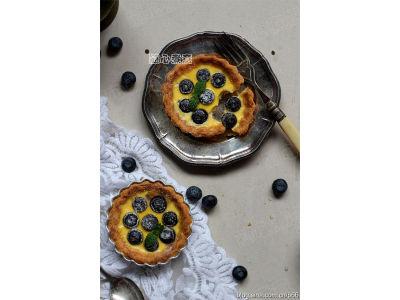 【藍莓蛋撻】簡易可口水果蛋撻
