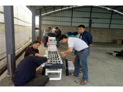 勐海县:成功安装调试第五条水稻育秧流水线设备