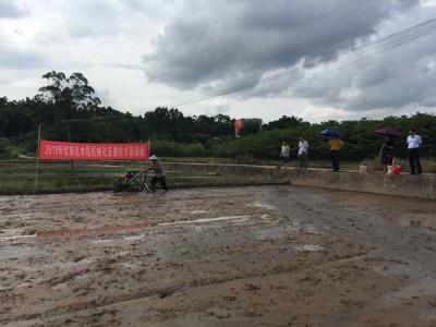 钦南区举办水稻机械直播技术现场培训会