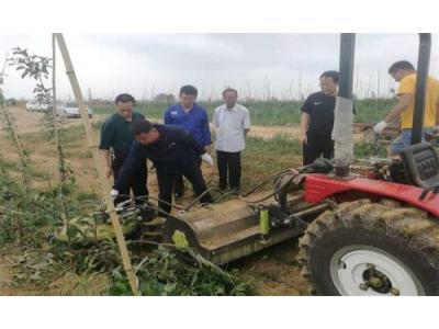 陕西:洛川开展果园新机具演示