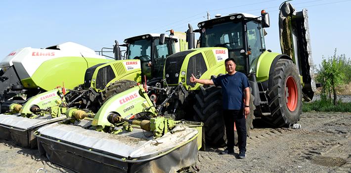 魏垂如—草業發展離不開先進的設備,CLAAS是我的首選
