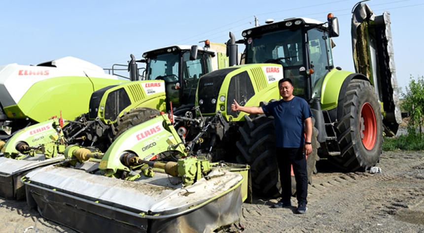 魏垂如—草业发展离不开先进的设备,CLAAS是我的首选