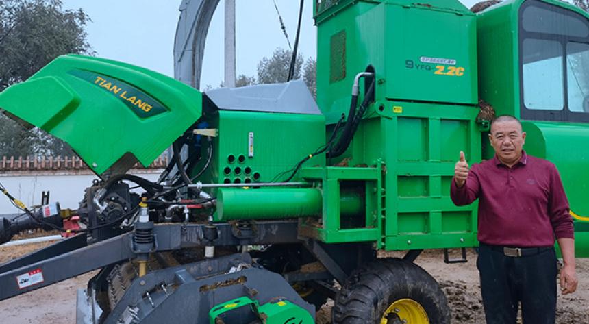 天朗打捆機不僅可以收秸稈,還可收獲青貯玉米